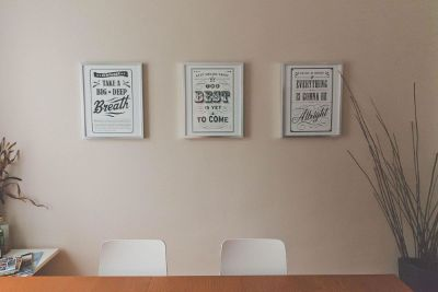 certificates on the wall