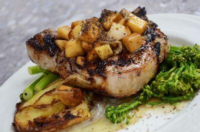 porkchops on a plate