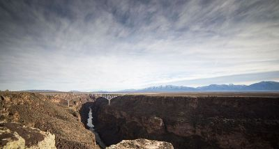canyon landscape with bridge