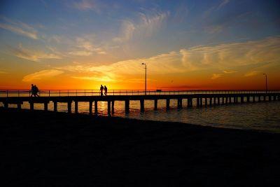 walk at sunset