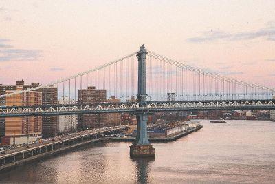 bridge over water in city