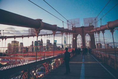 large bridge in a city