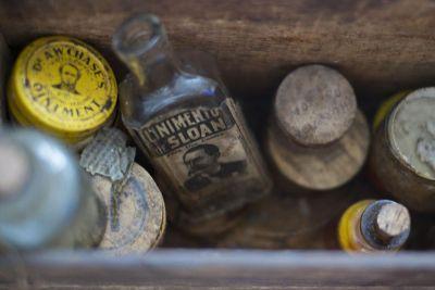 old bottles and jars