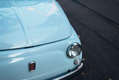 blue italian car