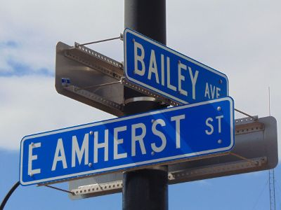 crossing with street names