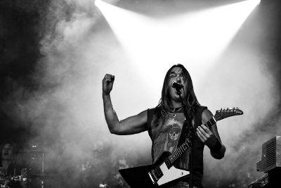 rock concert singer