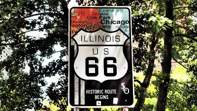 illinois us route 66 historic sign