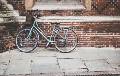bicycle against a brick wall