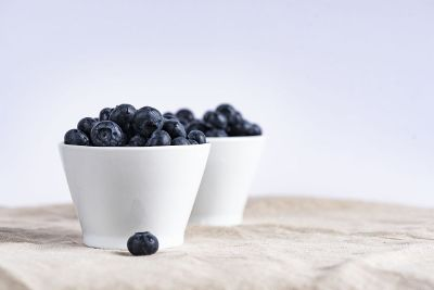 cups of blueberries