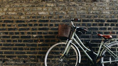 leaning bicycle