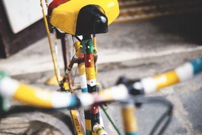 multi colored bike