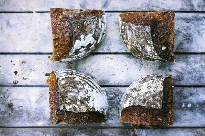 homemade artisan chocolate bread