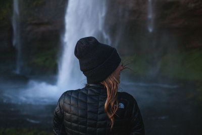 breeze by the waterfall