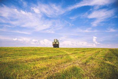 truck in open field