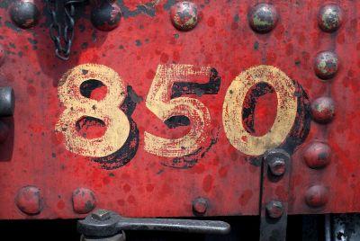 numbers on metal