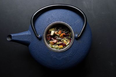 soup in a kettle