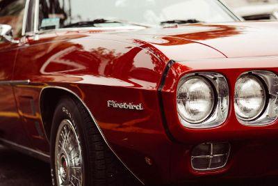 red firebird sports car