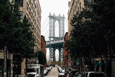 street leading to bridge