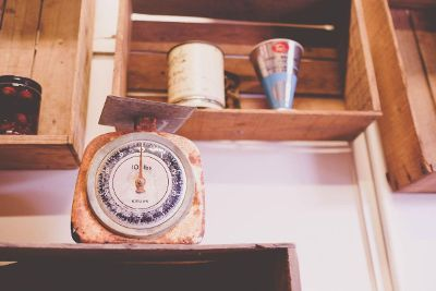 food scale in kitchen