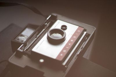 vintage polariod camera