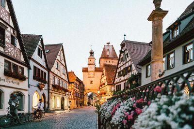 quaint european town