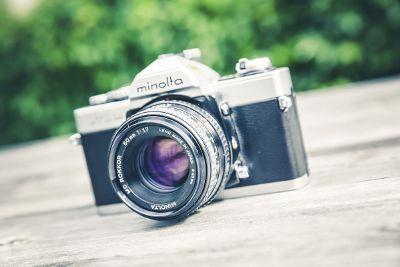 macro phot of a camera