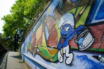 smurf graffiti