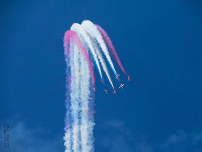 patriotic air display