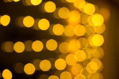 bokeh of lights at night