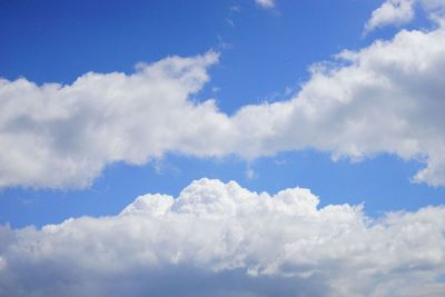 clouds in bright blue sky