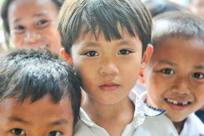 group of asian children