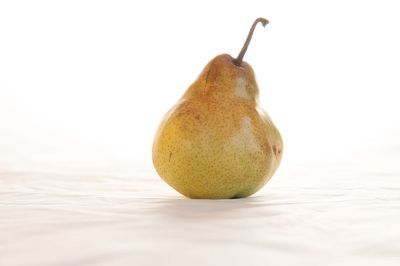 pear on a white sheet