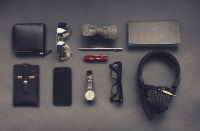 random items laid out