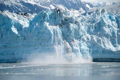a huge glacier
