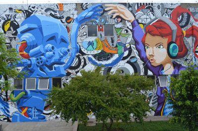 modern art mural