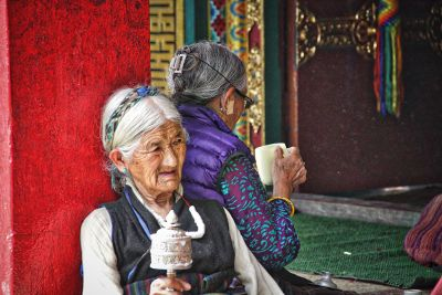 two old ladies sitting