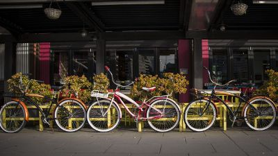 bikes parked outside