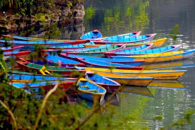 colourful water boat