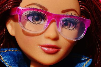 barbie with glasses