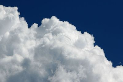 a cloud and the sky