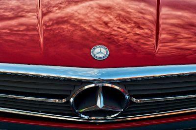 red mercedes benz