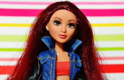 barbie with red hair