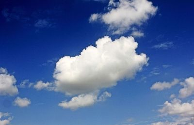 cloud in a bright blue sky