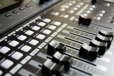 studio music mixing board