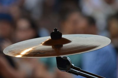 cymbal on a drum kit
