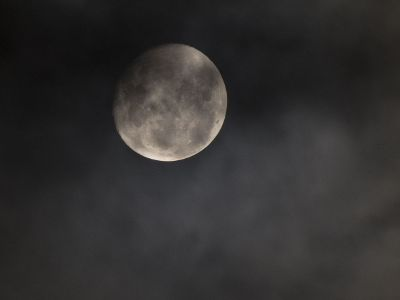 a moon in the night sky
