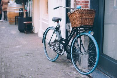 bike with basket