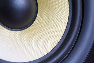 close up of a speaker