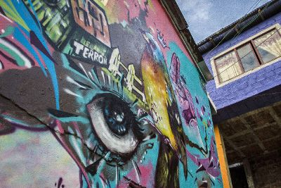 graffiti on exterior wall