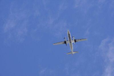 plane on a blue sky